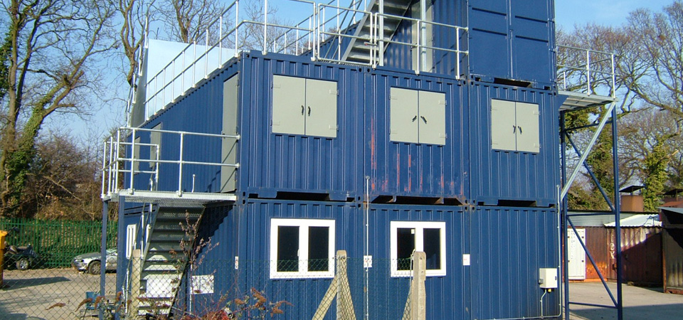 Container Fire Building